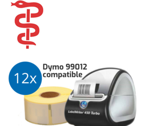 General Practitioner Starter Package | Dymo LabelWriter 450 Turbo + 12 Dymo 99012 Compatible Label Rolls
