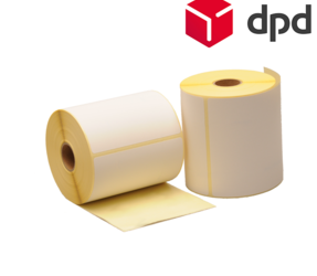 Zebra compatible DPD shipping labels, 102mm x 150mm, 300 labels, 25mm core, white, permanent