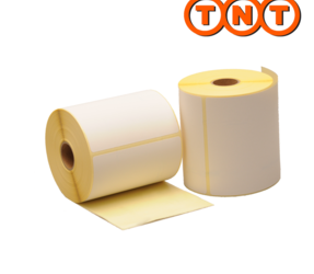 Zebra compatible TNT shipping labels, 102mm x 150mm, 300 labels, 25mm core, white, permanent