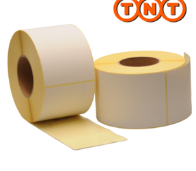 Zebra Compatible TNT Shipping Labels, 102mm x 150mm, 900 Labels, 76mm Core, White, Permanent