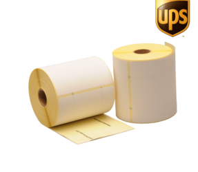 Zebra compatible UPS shipping labels, 102mm x 150mm, 300 labels, 25mm core, white, permanent