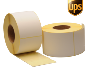 Zebra compatible UPS shipping labels, 102mm x 150mm, 900 labels, 76mm core, white, permanent