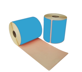 Thermal Shipping Labels, 102mm x 150mm, 280 Labels, 25mm core, blue, permanent