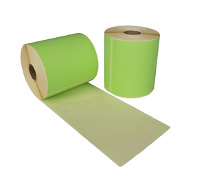Thermal Shipping Labels, 102mm x 150mm, 280 labels, 25mm core, green, permanent