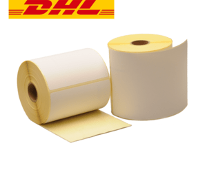 Thermal Shipping Labels DHL, 102mm x 210mm, ECO, 210 Labels, 25mm Core, White, Permanent