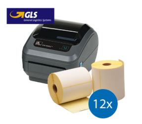 GLS Starter Package | Zebra GK420D Ethernet + 12 rolls, 102mm x 150mm