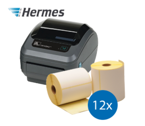 Hermes Starter Package | Zebra GK420D Ethernet+ 12 label rolls, 102mm x 210mm