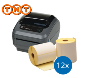 TNT Starter Package | Zebra GK420D Ethernet + 12 Zebra label rolls 102mm x 150mm