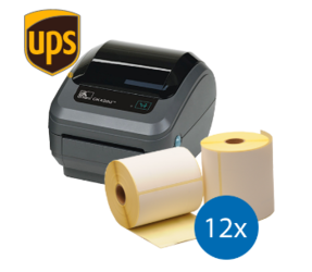 UPS Starter Package | Zebra GK420D + 12 Zebra Shipping Labels, 102mm x 150mm