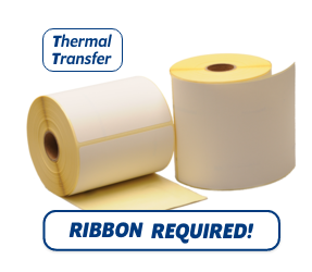 TTR Zebra (800294-605) Compatible Labels, 102mm x 152mm, 300 Labels, 25mm Core, Permanent, Thermal Transfer