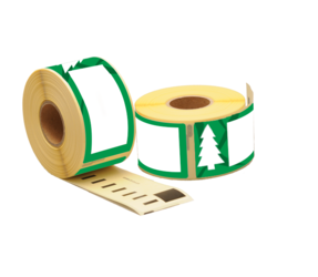 Dymo compatible 99012 Holiday Tree Labels, 89mm x 36mm, 260 labels